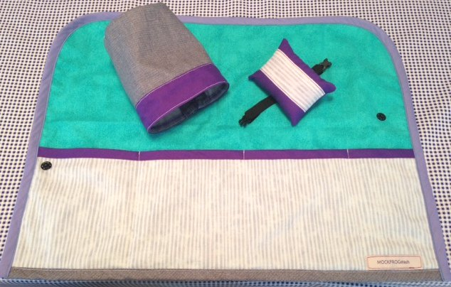 SALE Sewing Machine Mat, thread catcher, pin cushion, wrist strap