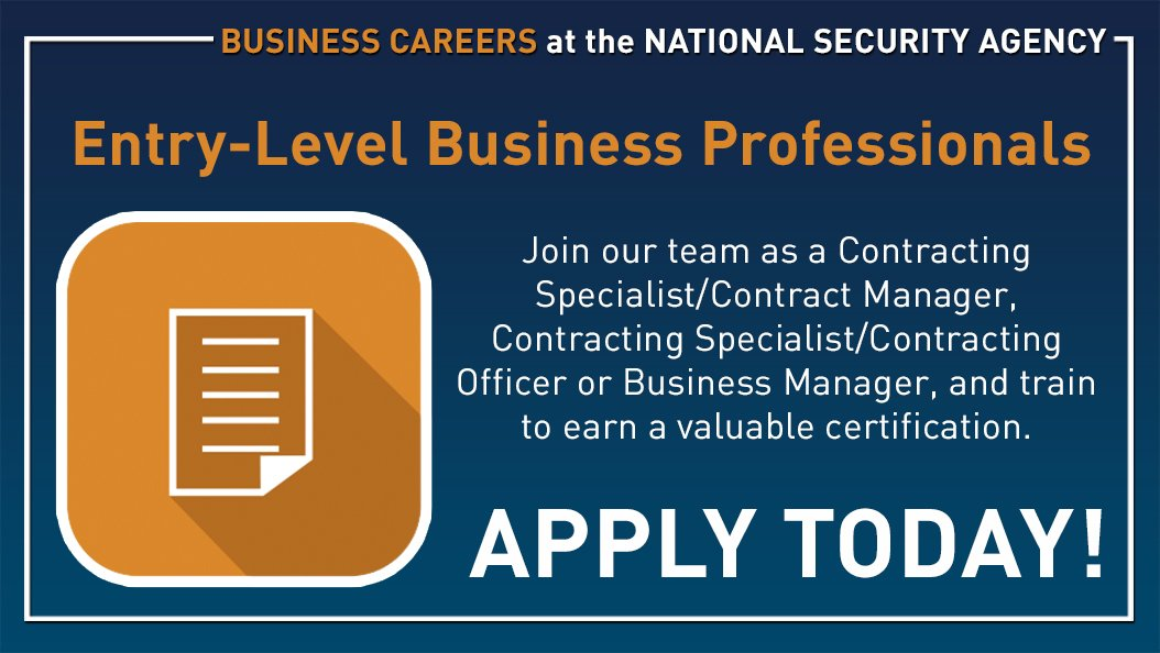 Nsa Careers On Twitter Now Hiring Apply Today Search Business