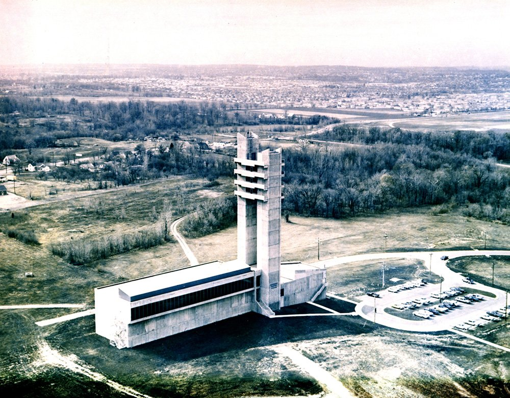 Landmark Twin Towers at @WrightPattAFB turn 50, June 8. Today, they are home to AFRL&#39;s Sensors Directorate. #AFRL100Years #AirForceHistory<br>http://pic.twitter.com/URTgTigN8r