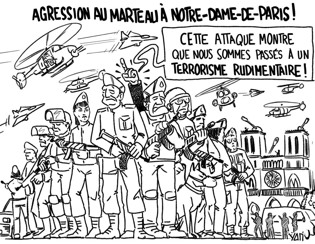 Oxymore #interieur  Source :  http:// tinyurl.com/yd8ta7k8  &nbsp;   #attaque #terrorisme #notredamedeparis #dessindepresse #Collomb<br>http://pic.twitter.com/KJukwVPmT8