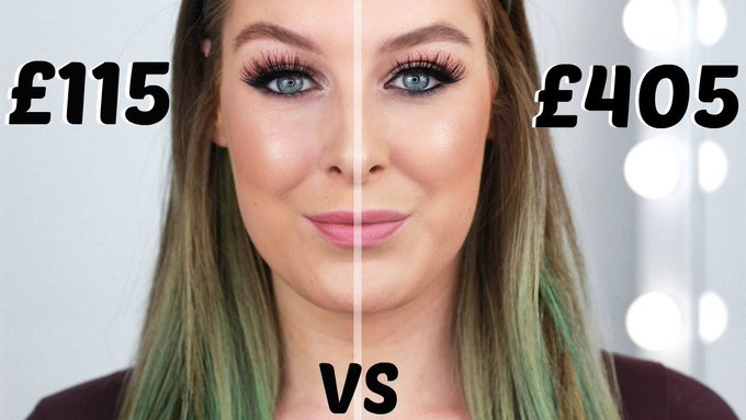 Full Face Half High End vs Half Drugstore Makeup Tutorial