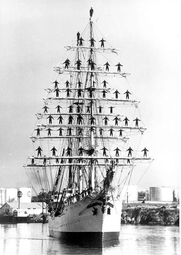 A hair-raising sail training exercise ab...