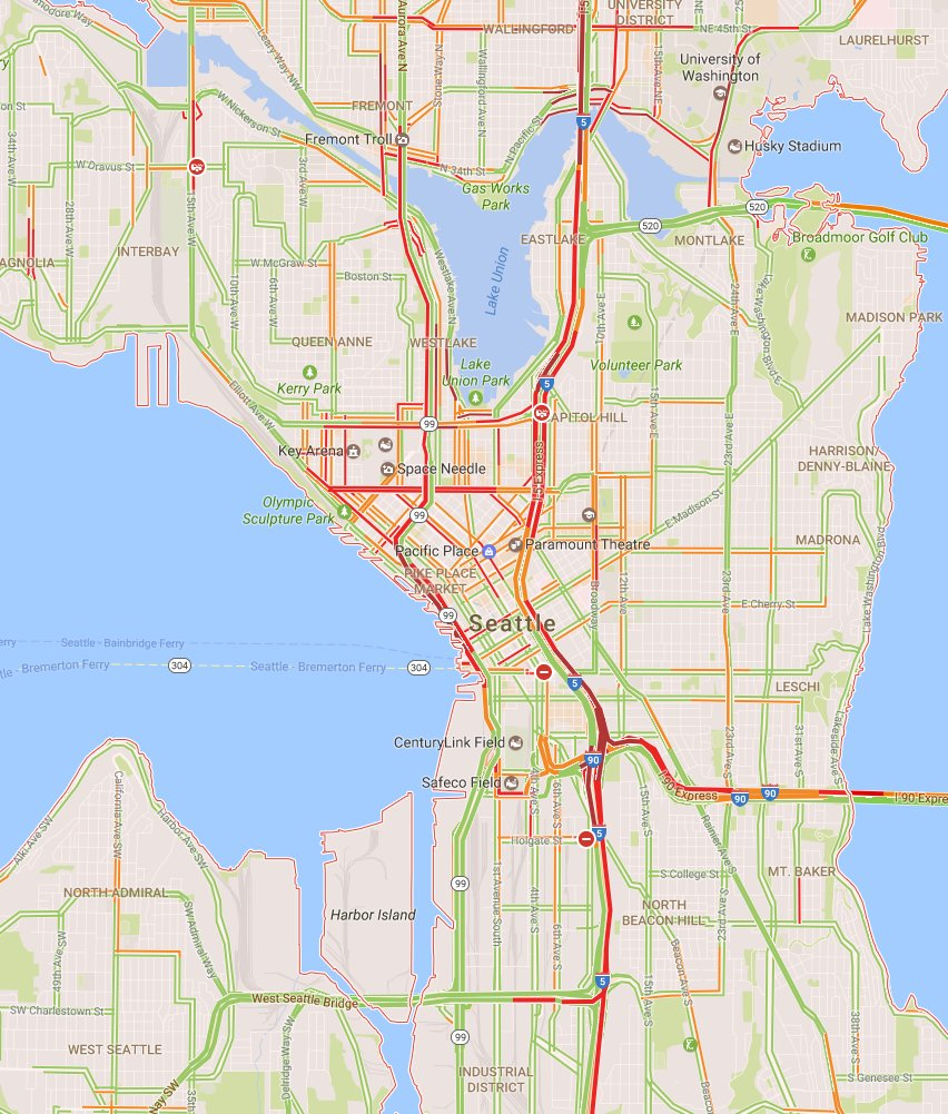 Seattledot On Twitter Still Some Heavy Traffic Areas In The