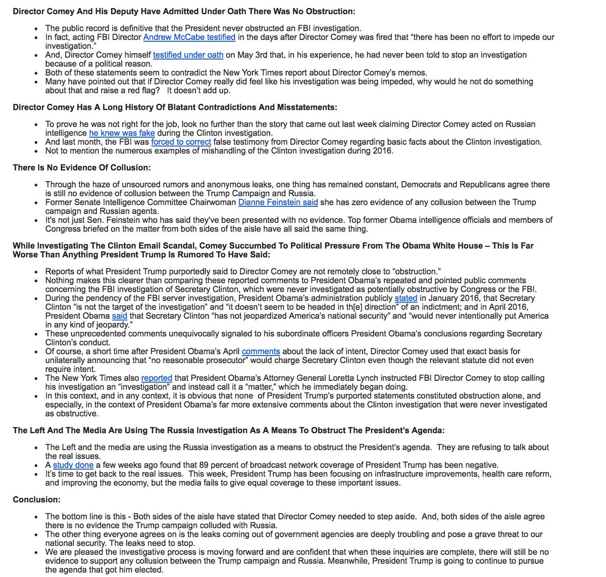 Here are the RNC talking points to Trump allies on Comey's testimony tomorrow https://t.co/8X9NKTQHMe