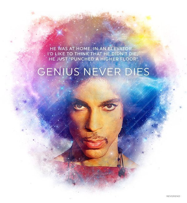"""If the elevator tries to break you down, go crazy, punch the highest floor!\"" Happy birthday up there, Prince."