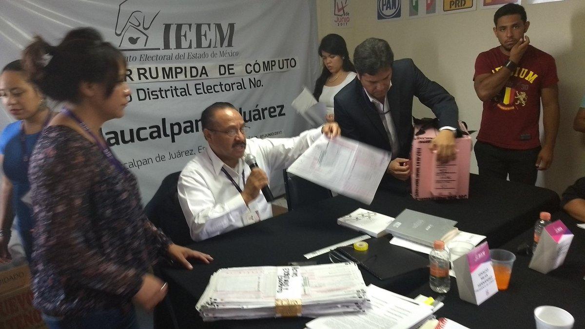 Después del recuento de casilla 2836 Básica, #DelMazo pasa de 640 a 81 votos. ¡Con razón no quieren abrir los otros paquetes! SIN VERGÜENZAS