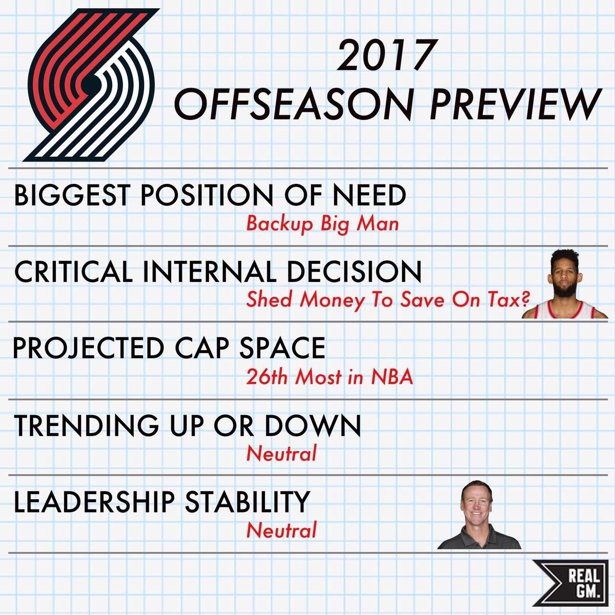 2017 NBA Offseason Preview: Portland Trail Blazers