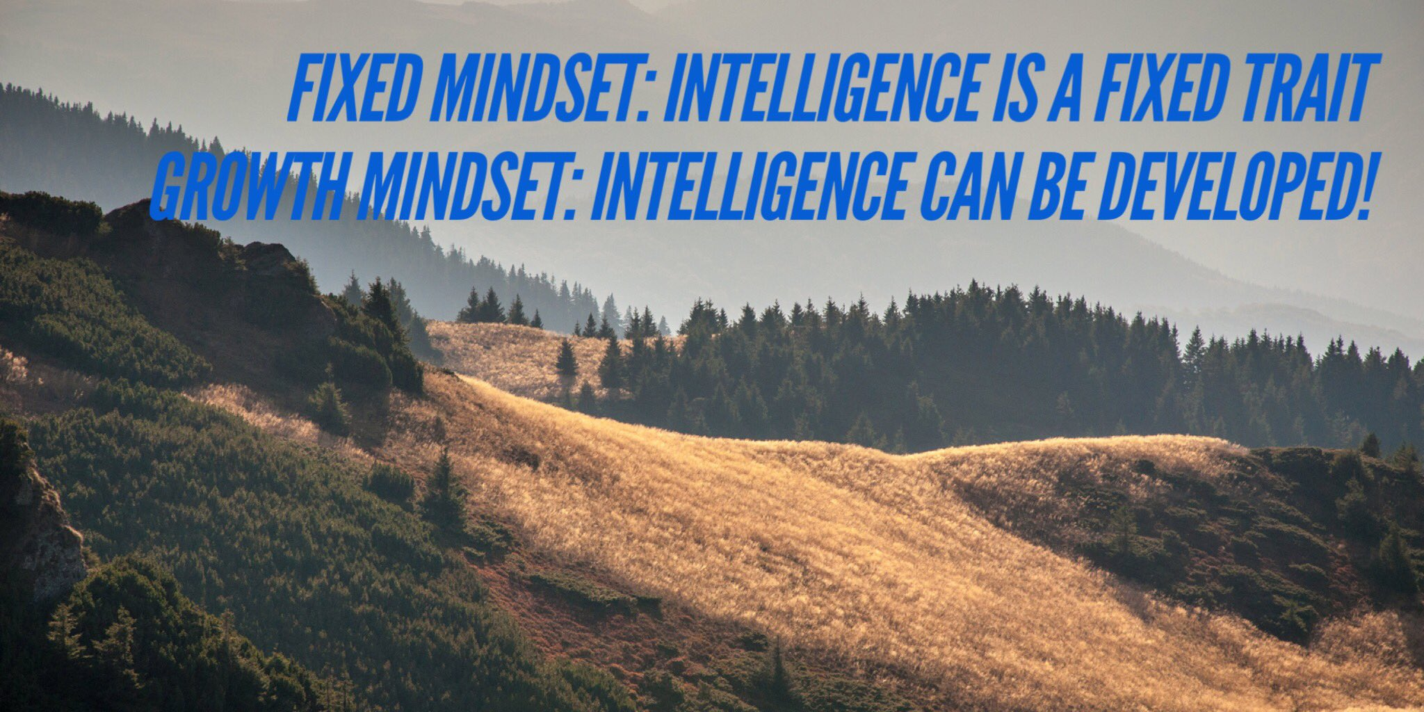 "#GrowthMindset #edutechau #aussieED ""intelligence can be developed"" Carol Dweck https://t.co/xH6PNdbtfD"