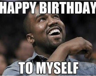 Kanye West and I share a birthday. Here\s Kanye wishing himself - and me - happy birthday!