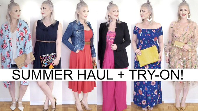 SUMMER HAUL + TRY ON 2017: Outfit ideas