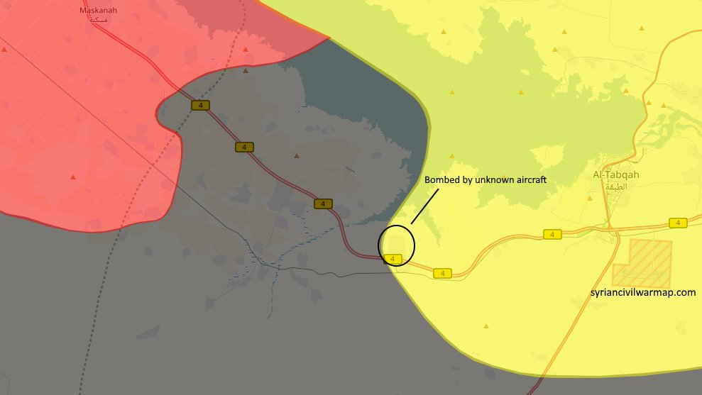Unknown aircraft hit SDF