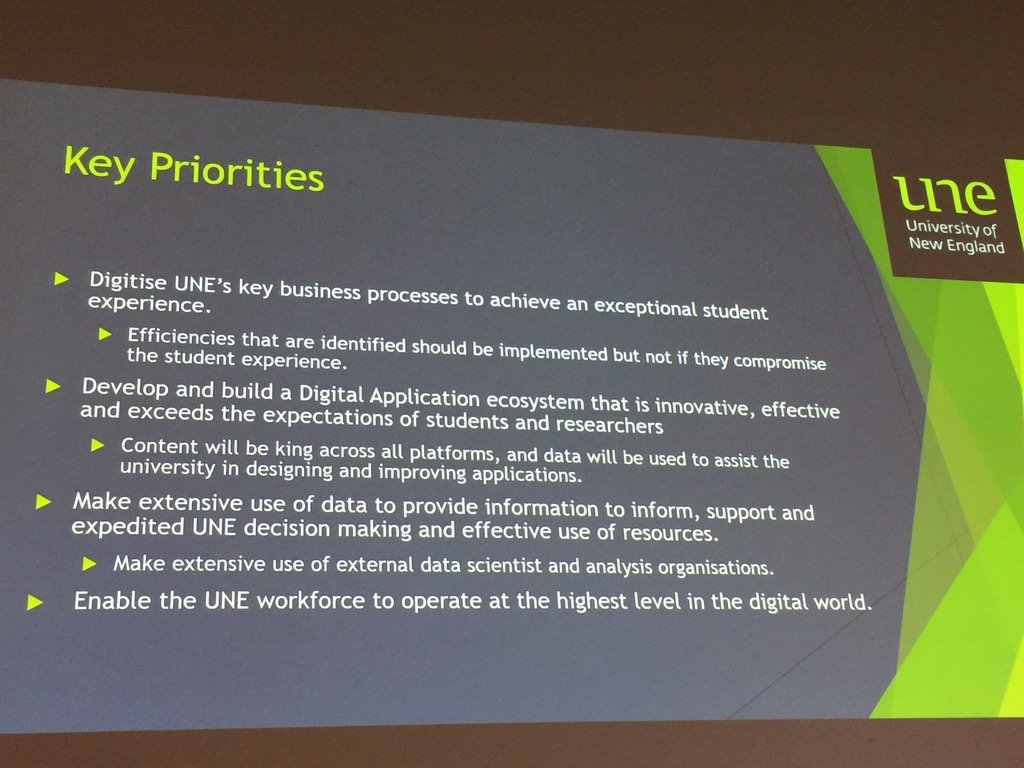 What are key priorities for digital change. Change management plans can't be underestimated #EduTechAU https://t.co/p7SmUDT5wu