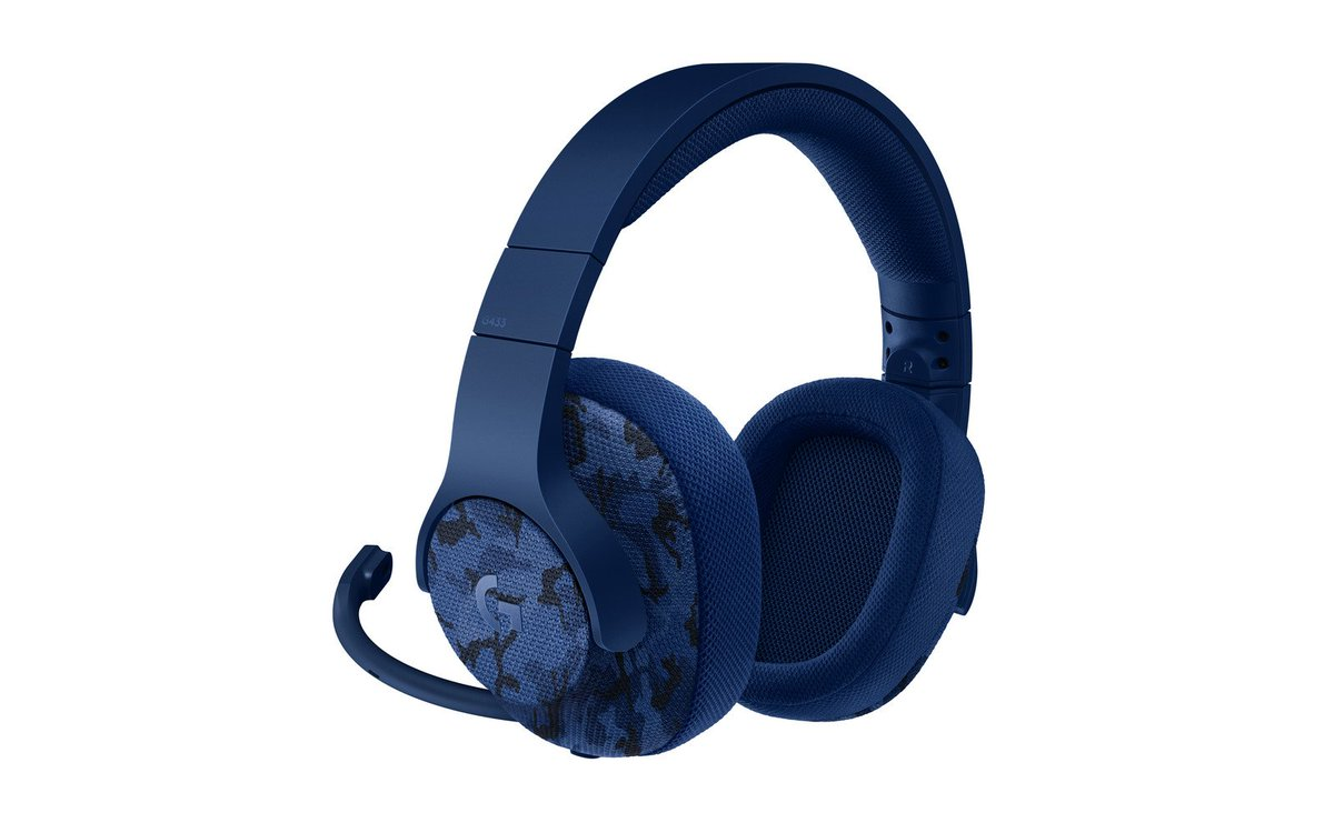 Logitech's new blue camo gaming headphones are perfect for underwater stealth levels