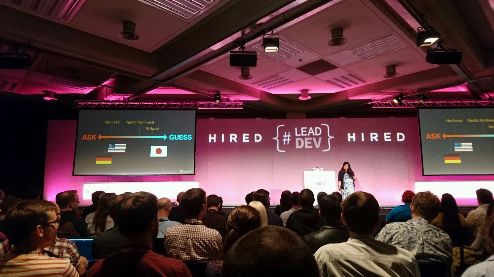 I'm very GUESS socially, but super comfortable as ASK professionally. I think this is good?  @kwugirl at #leaddev https://t.co/iRcAVmwACy