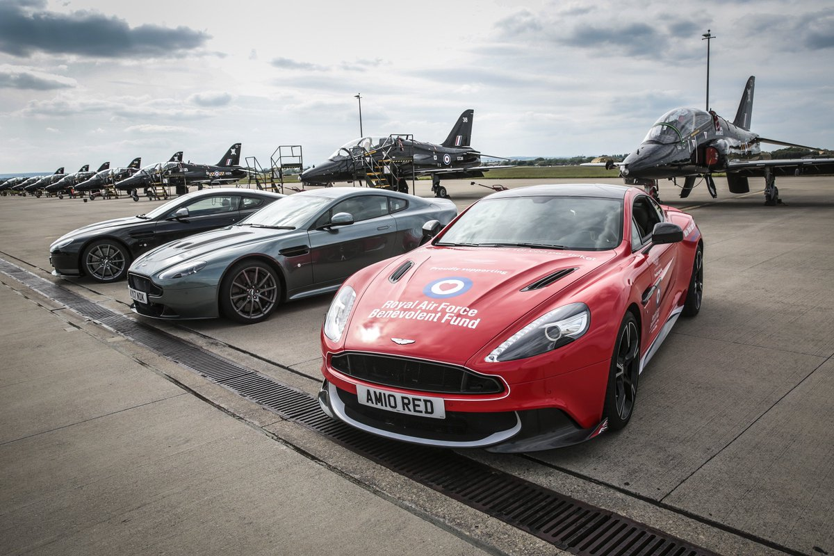 Aston Martin On Twitter The Stunning Lineup At The Recent RAF - Aston martin lineup