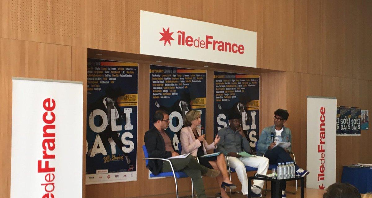 Region Ile De France On Twitter Vpecresse Solidays2017 Ce N