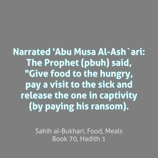 """Also-> """"He is not a Muslim who goes to bed satiated while his neighbour goes hungry"""". #FillThePlate https://t.co/2PYdXF1PwK"""