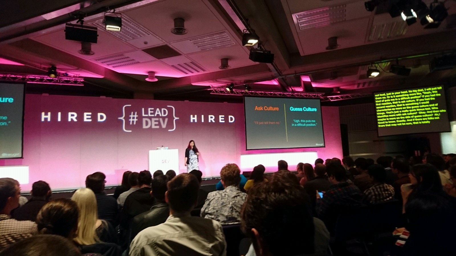 Guess culture. Also known as the Canadian mentality. 🇨🇦  @kwugirl and baby's first speaking gig at #leaddev https://t.co/n0J7yFW2xl