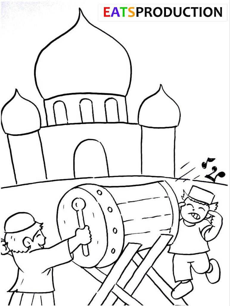 Gambar Mewarnai Tema Ramadhan 2019 Sukagambarku