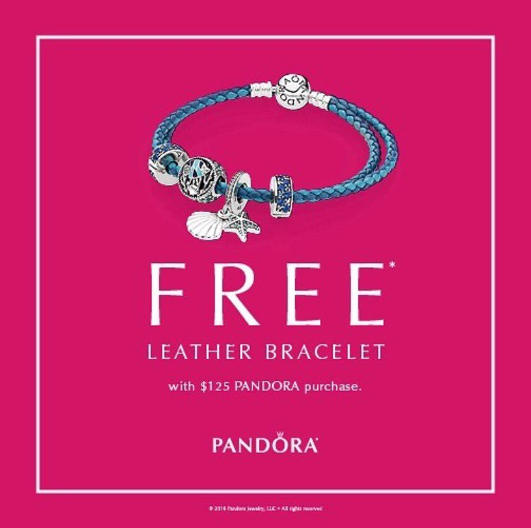 0321c78b0 Our Leather Bravelet Event is back! Drop by our store to receive a FREE  leather bracelet with your purchase of $125 or more! #PANDORAGuelphpic. twitter.com/ ...
