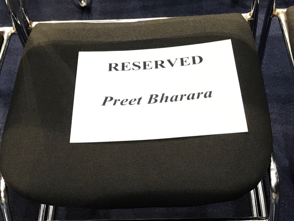 Look who's got a reserved seat for #ComeyHearing