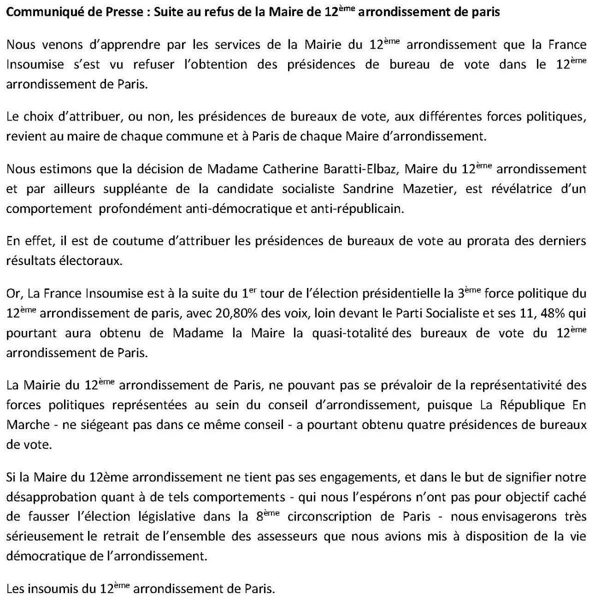 Mairie du 12e on Twitter LEGISLATIVES2017 Vrifier son