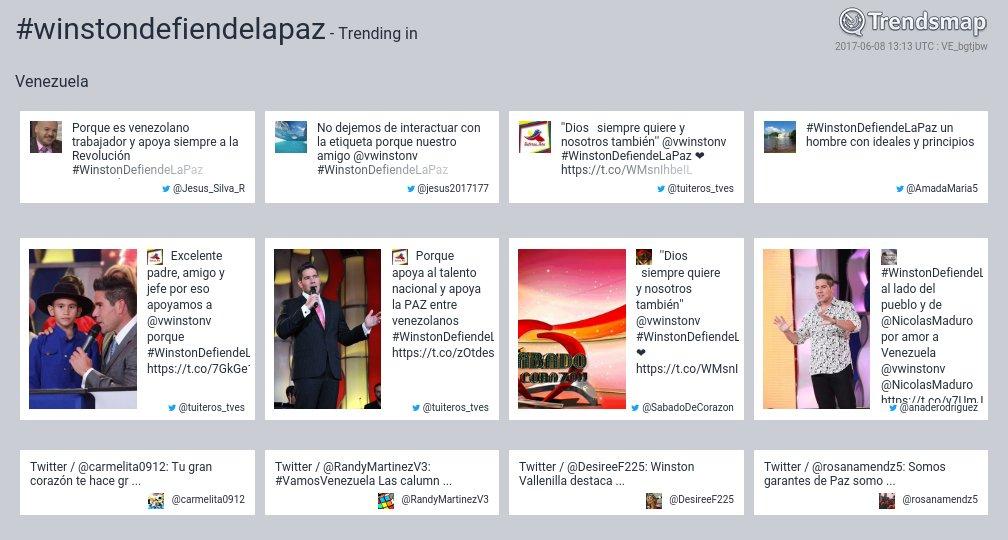 #winstondefiendelapaz es ahora una tendencia en Venezuela  https://t.co/051qwFHLNy https://t.co/AjQxycahjE