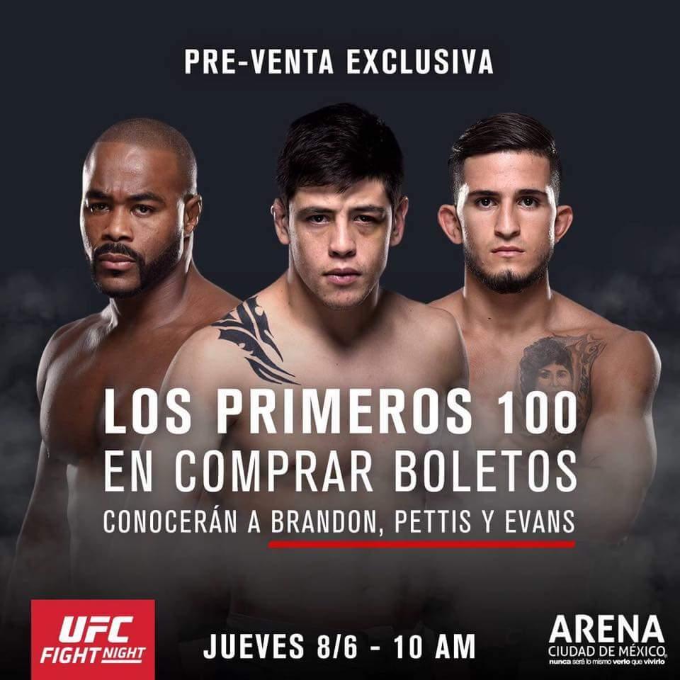 Hoy amigos !!!! Hoy a las 10 am los veo en la arena Ciudad de México #UFCMEXICO!! https://t.co/tbWGPzHF0Q
