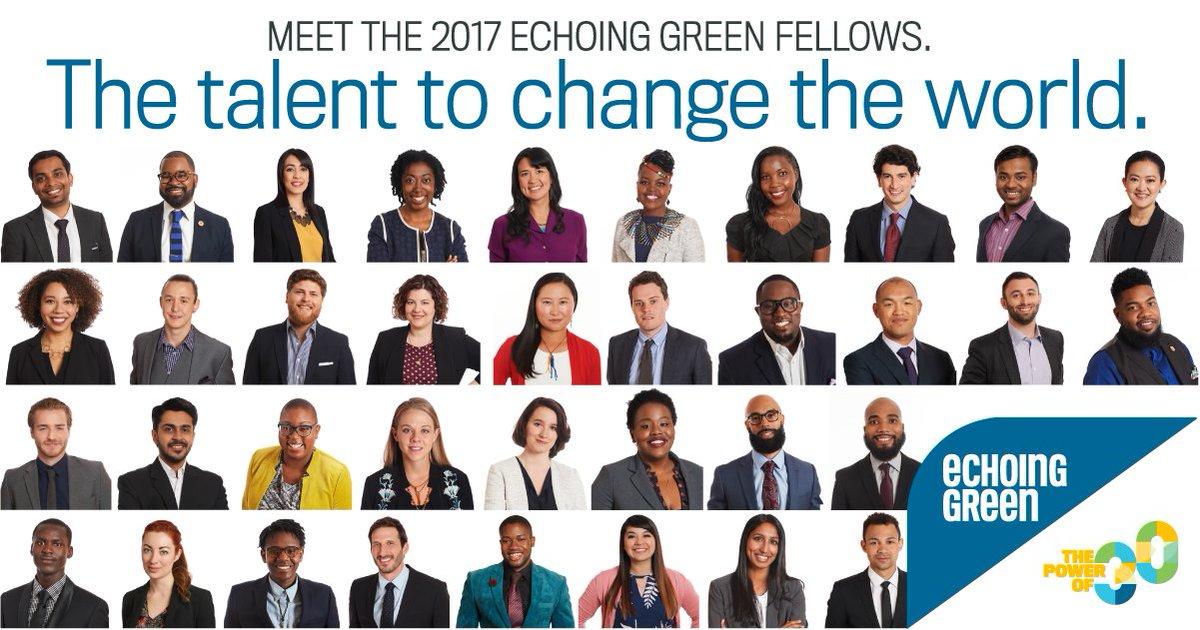 36 new Fellows in 12 countries—meet the 2017 Echoing Green Fellows: https://t.co/N8IIXOmdte #socent #socinn https://t.co/wkxZgAktkU