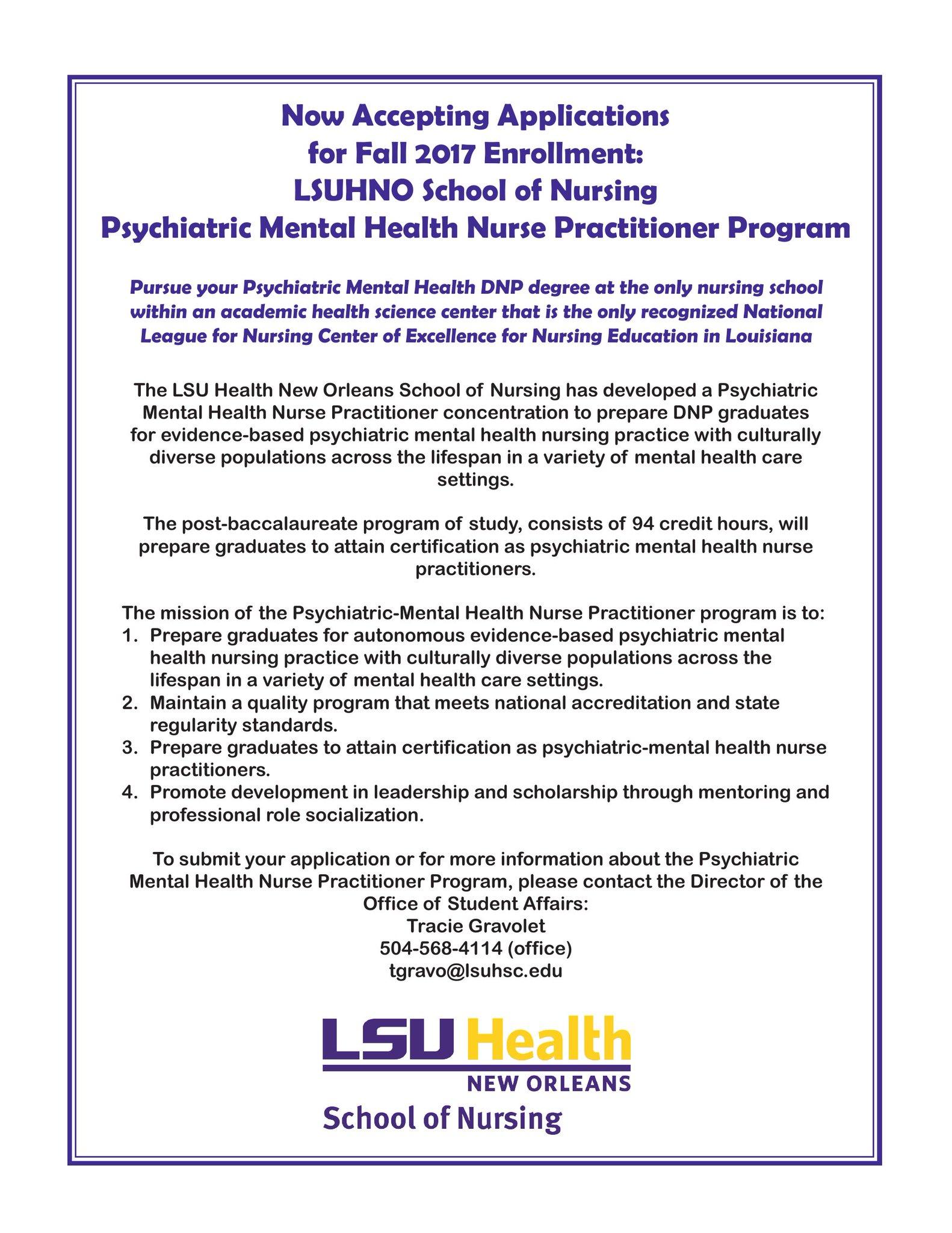 Lsu No Nursing On Twitter Our Psychiatric Mental Health Nurse
