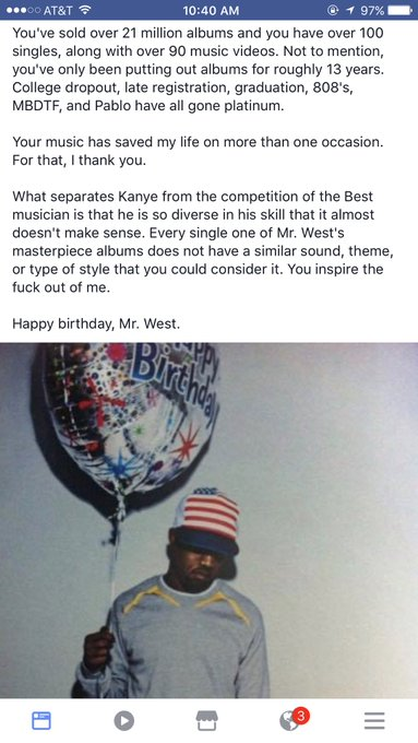 Happy birthday, Kanye West.
