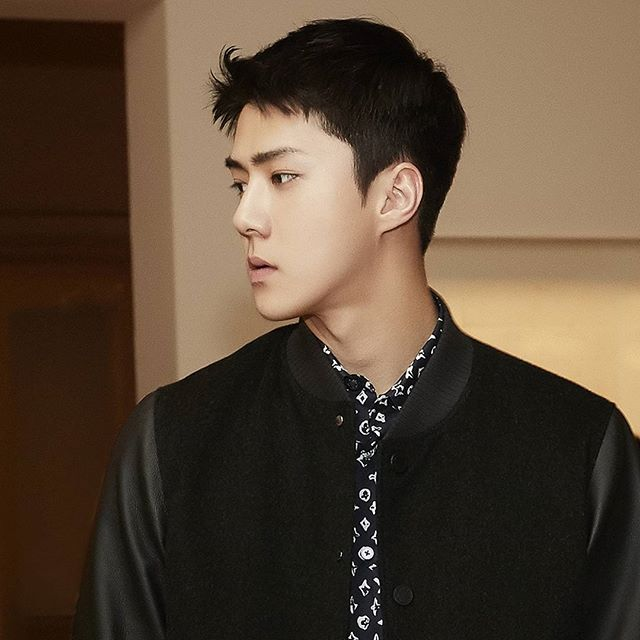 7d7fab7b5d3e sehun of at the louis vuitton exhibition opening event wearing by