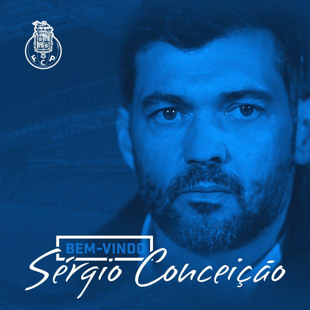 Sérgio Conceição é o novo treinador do FC Porto. Bem-vindo! Conferência de imprensa Live 17h  #FCPorto #BemVindoSergio