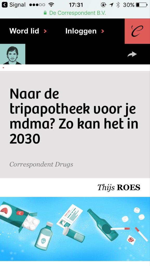 Thijs Roes schrijft graag artikelen over drugs