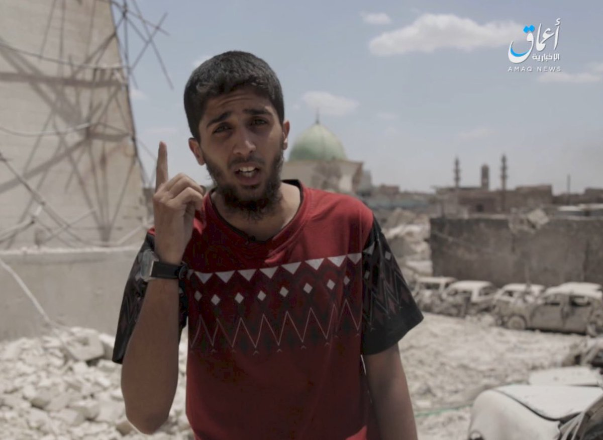 Material from #Amaq - #IS continues to blame US for mosque destruction, working hard to spread the narrative especially in the region<br>http://pic.twitter.com/jsn2lwT87Z