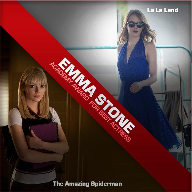 #Oscar winner in superhero movies. #EmmaStone https://t.co/slqW6wOiHR