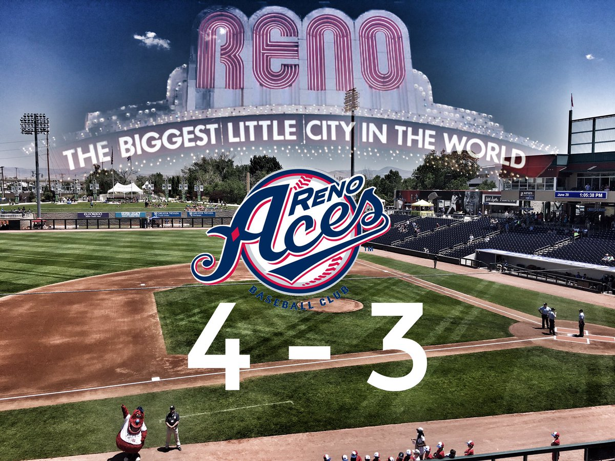 The @Aces walk off to beat the @RainiersLand!  #sportscastweekly #locallowdown #renoaces #greaternevadafield #walkoff #reno #baseball <br>http://pic.twitter.com/hYZcQSuORs