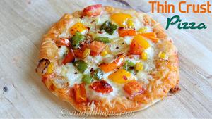 Thin crust pizza, Veggie thin crust pizza, Pizza varieties