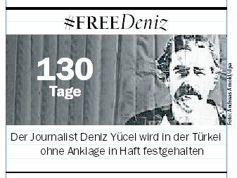 130 Tage. Einhundertunddreißig, ohne Anklage. #FreeDeniz