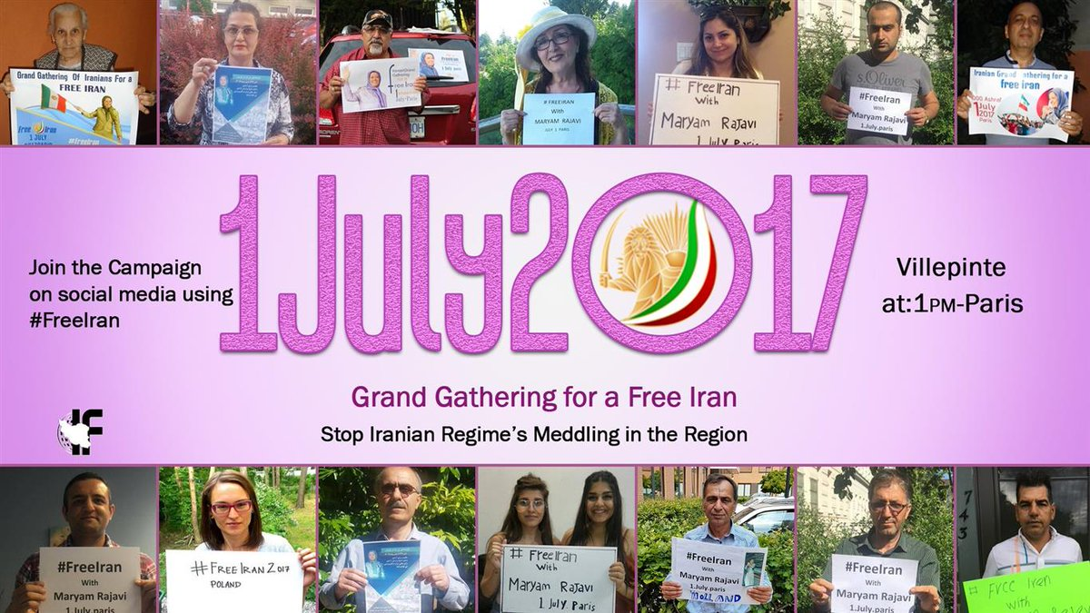 The #Iran&#39;ian Grand Gathering takes place in #Paris July 1st  #NDP #LPC #cpcldr #BCpoli #ONpoli #ABPoli #qcpoli #skpoli #USA #UK #MiddleEast<br>http://pic.twitter.com/pPGbpBhggN