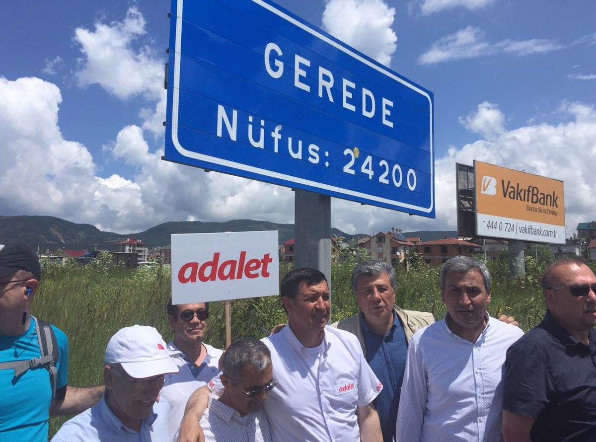 #AdaletYollarda 9.gün. Gerede geride kaldı. İstikamet İstanbul hedef a...