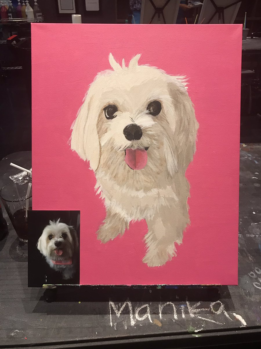 I painted my fur baby! What do you think #Angel  <br>http://pic.twitter.com/2M7ObAkCHu