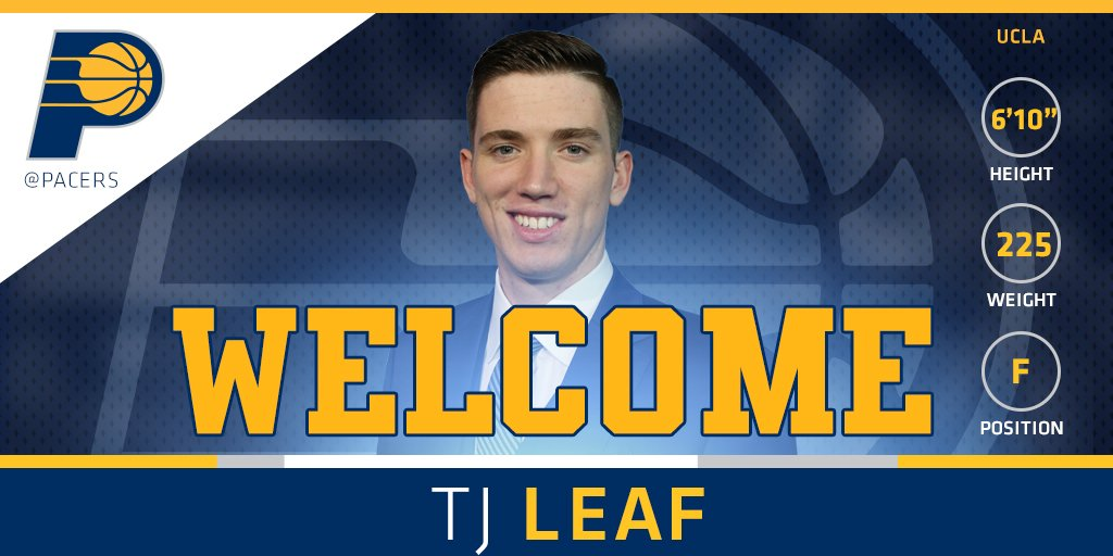 With the 18th pick in the 2017 NBA Draft, your Indiana Pacers select T.J. Leaf from UCLA. #PacersDraft