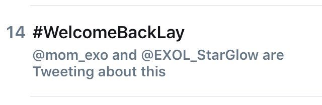 #WelcomeBackLay is trending on twitter Worldwide!! Let&#39;s continue to show love for #EXO and our sweet unicorn, #Lay!<br>http://pic.twitter.com/mlWAlQ6QJ8