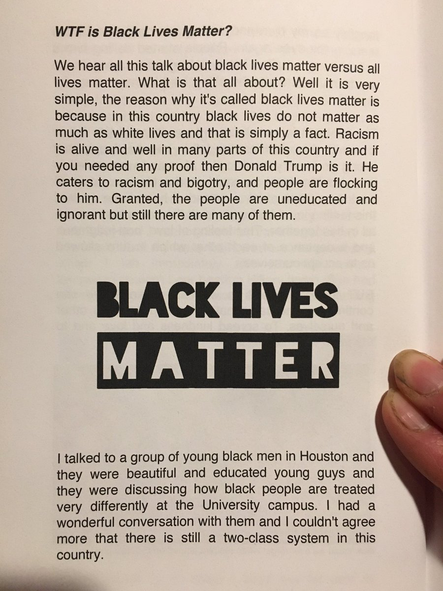 This is for the crazies who claim I&#39;m a racist! Part of my book! A little reality! Part 1 @RealTimBlack @nikoCSFB #BlackLivesMatter  #racism<br>http://pic.twitter.com/Kj4EMgGsn9