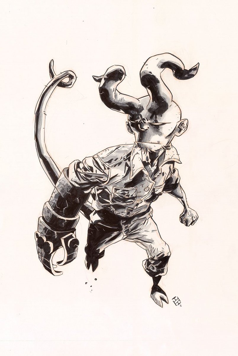 Hellboy Jr #Commission #Hellboy<br>http://pic.twitter.com/s9DQyyimYJ
