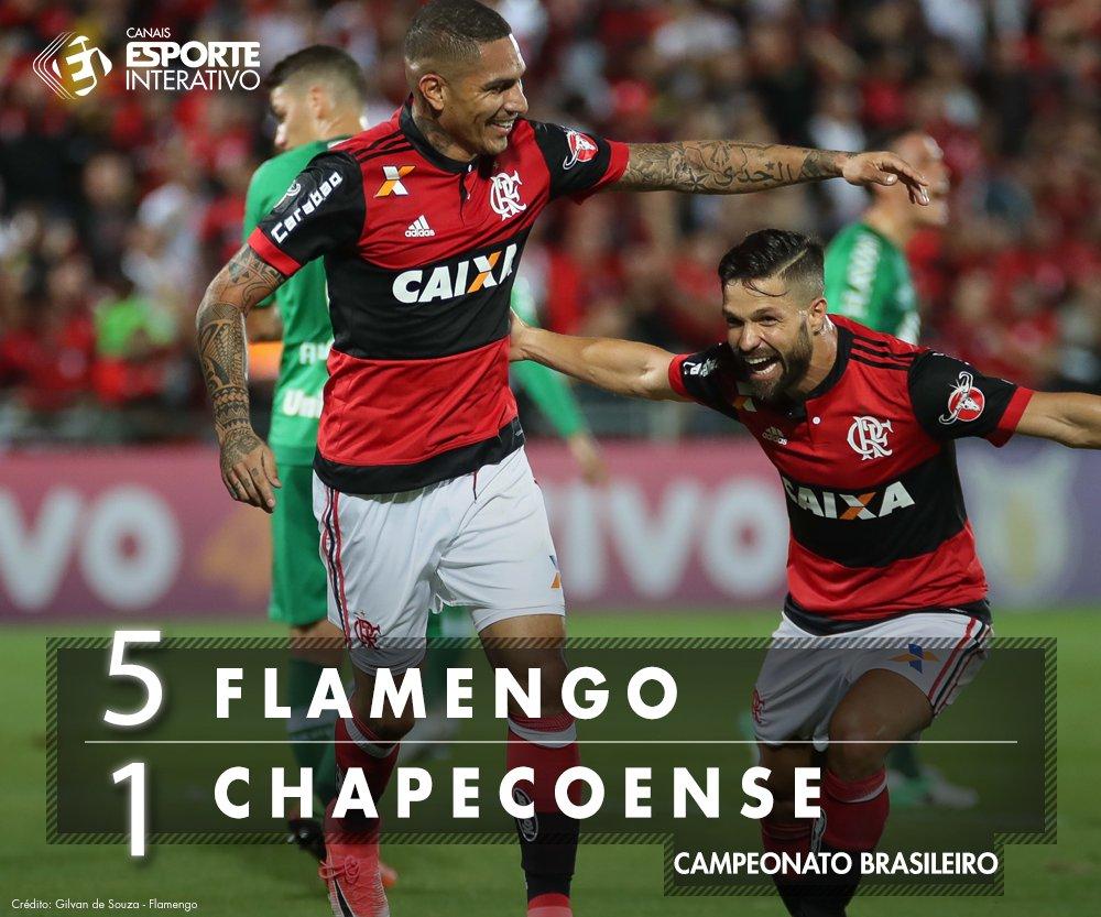 ACABOU! Com três gols de Guerrero e dois de Diego, o @flamengo goleou...