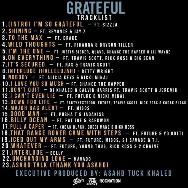 Congrats @djkhaled on ANOTHER ONE! #GRATEFUL https://t.co/f6HoqHljCu