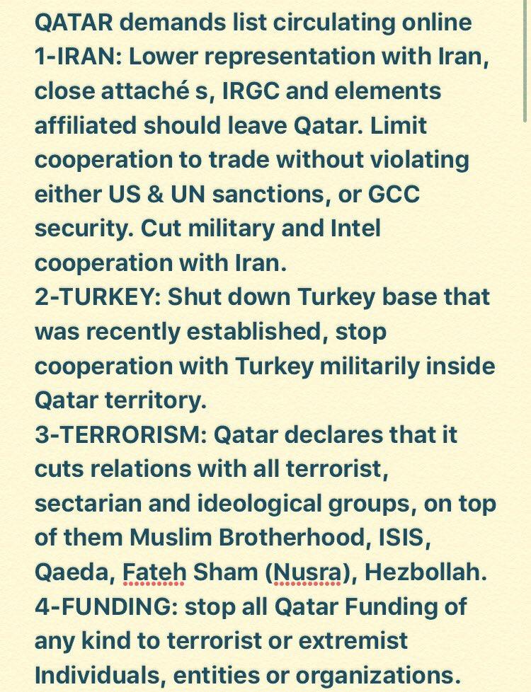 Saudi Arabia & allies demand Qatar close Turkish base, shut Al-Jaz...
