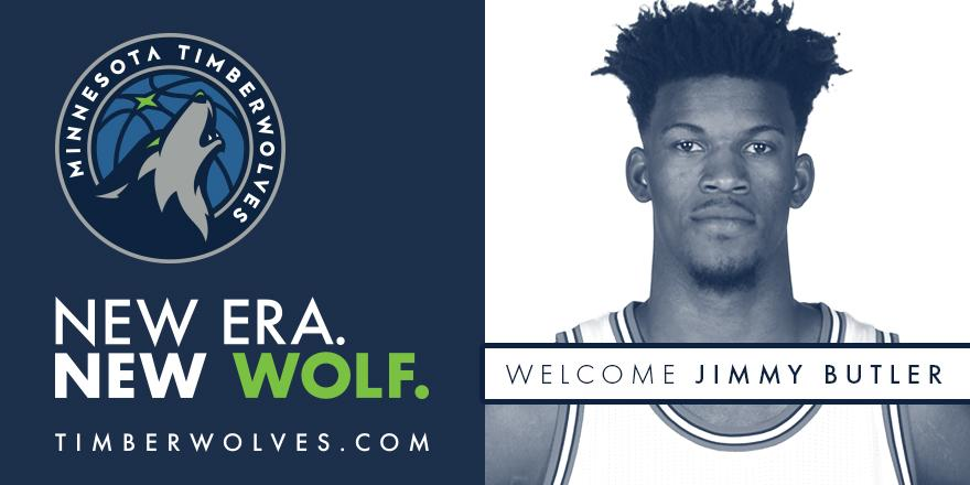 It's Official.  Timberwolves Acquire Three-Time NBA All-Star and 2016-17 All-NBA Third Team Selection Jimmy Butler » https://t.co/EzD0baxDb4